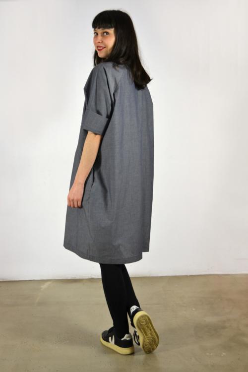 camisero-navy-detras | Elisa Muresan moda sostenible