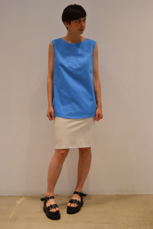 camiseta-espalda-abierta-azul | Elisa Muresan ropa ecológica