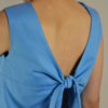 camiseta lazo espalda detras | Elisa Muresan ropa ecológica