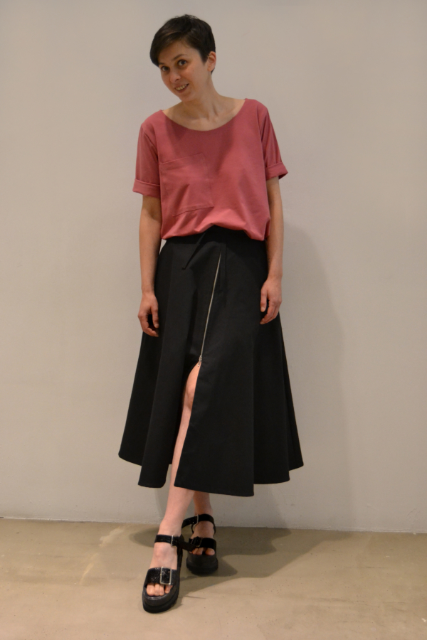 falda-midi-cremallera | Elisa Muresan moda sostenible