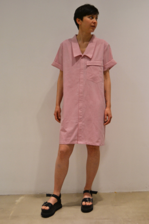 vestido-camisero-rosa | Elisa Muresan ropa ecológica