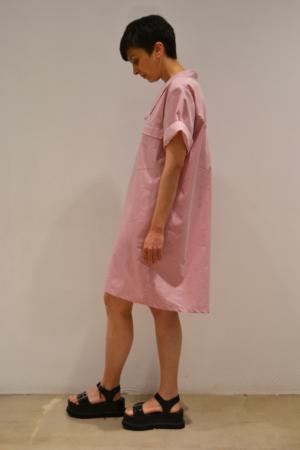 vestido-camisero-rosa-lateral | Elisa Muresan ropa ecológica