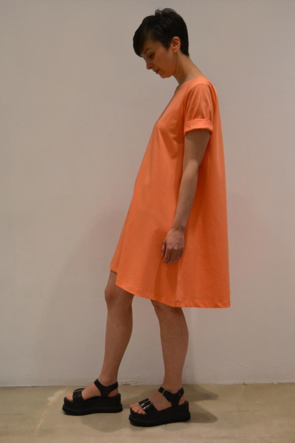 vestido-evase-mangas-lateral | Elisa Muresan ropa ecológica