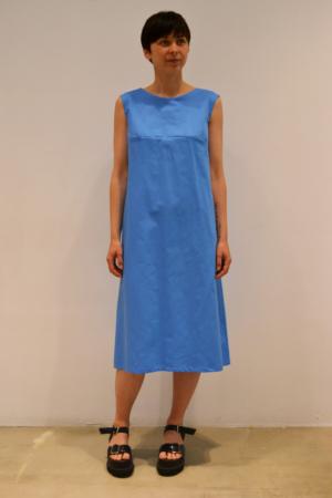 vestido-midi-azul | Elisa Muresan ropa ecológica